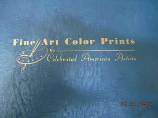 1945 vintage FINE ART COLOR PRINTS AMERICAN paintings