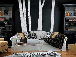 ft. TALL BIRCH TREES   Vinyl Wall Art Decals