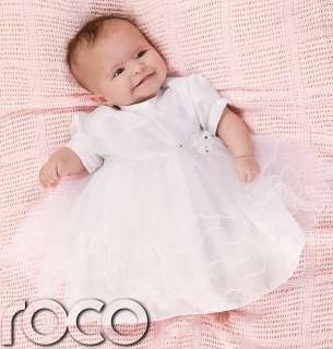 Baby Girls White Dress Christening Toddlers Butterfly Dress Age 0   9