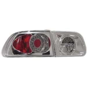 Anzo USA 321036 Honda Civic Chrome LED Tail Light Assembly   (Sold in