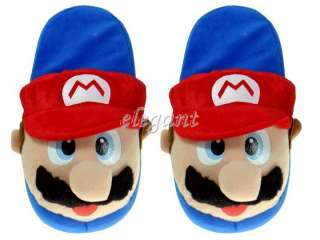 Nintendo Super Mario Brothers 11 Adult Plush Slippers