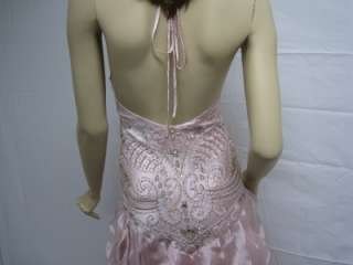 Sue Wong Pink Evening N7100 Dress Gown Long Wedding 6 Beaded Bride