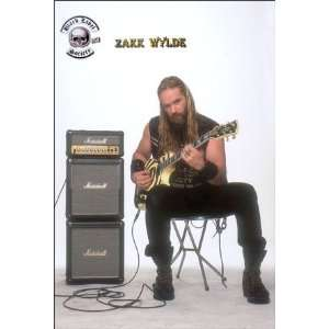 Zakk Wylde playing guitar (sent from USA in PVC pipe)