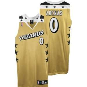 Gold adidas NBA Authentic Washington Wizards Jersey