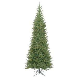 Pre lit Carolina Fir Slim Artificial Christmas Tree   Clear Lights