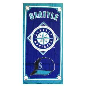 MLB Seattle Mariners Bath Sheets Beach Towel