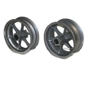 FS529 Front Wheel With Bearings Front Rim For X 7 Pocket Bike Parts