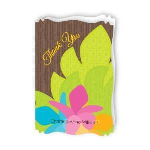 Luau   Personalized Bridal Shower Thank You Cards With