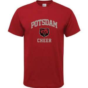 Potsdam Bears Cardinal Red Youth Cheer Arch T Shirt