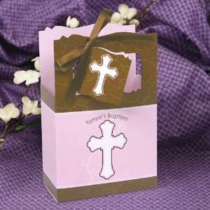 Brown Cross   Classic Personalized Baptism Favor Boxes Toys & Games