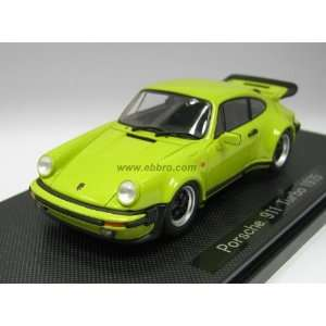 Porsche 911 Turbo 1975, Green 1/43 Scale Diecast Model Toys & Games