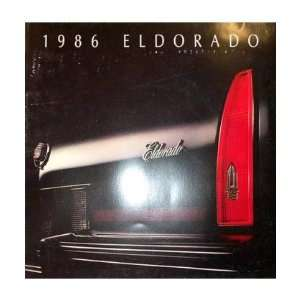 1986 CADILLAC ELDORADO Sales Brochure Literature Book