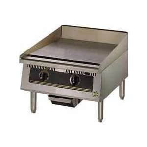 Griddle   24W Ultra Max Heavy Duty Electric 2 Controls Kitchen