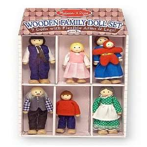 Melissa & Doug Wooden Doll Family Melissa & Doug Toys & Games
