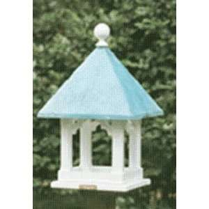 Lazy Hill Farm Square Bird Feeder   White Patio, Lawn & Garden