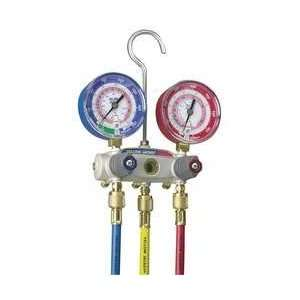 Manifold Gauge And Hose Set,2 Valves   YELLOW JACKET Automotive