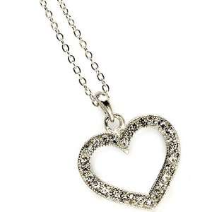 HEART CHARM   Heart Shape Crystal Necklace Sku2115 Jewelry