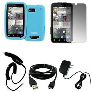 EMPIRE Light Blue Silicone Skin Case Cover + Screen