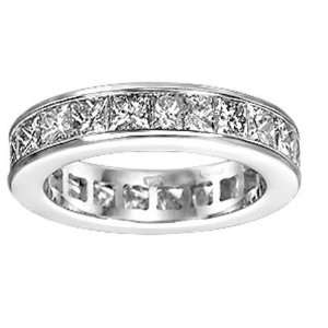 Cut Mens Ladies Unisex Diamond Eternity Wedding Anniversary Band
