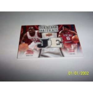 Deck Dual Jersey Card Michael Jordan and Julius Erving Bulls 76ers