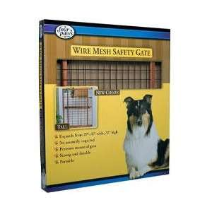 Four Paws Tall Coated Wire Mesh Wooden Safety Gate  29.5