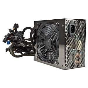 ATX Power Supply w/SATA, PCI E & Six 12V Rails (Black) Electronics