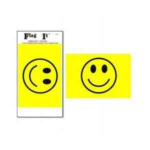 Smiley Face Flag Decal 3 1/2 IN. x 5 IN.
