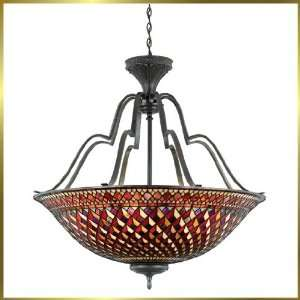 Tiffany Chandelier, QZTFIU2841VA, 8 lights, Antique Bronze, 37 wide X