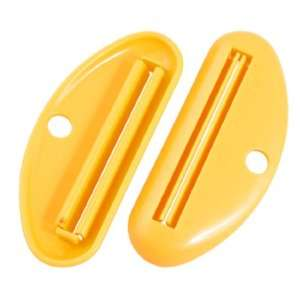 Bathroom Yellow Plastic Toothpaste Tube Squeezer Tools