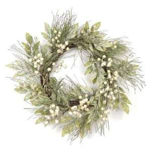 Berry, Pine & Leaf Christmas Wreaths 20   Unlit
