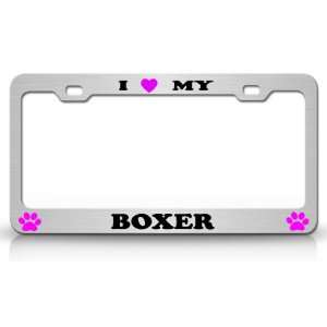 I LOVE MY BOXER Dog Pet Animal High Quality STEEL /METAL