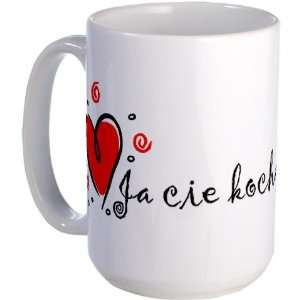 I Love You Polish Wedding Large Mug by