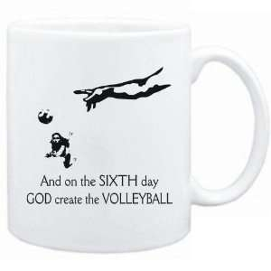 New   Sixth Day God Create The Volleyball  Mug Sports