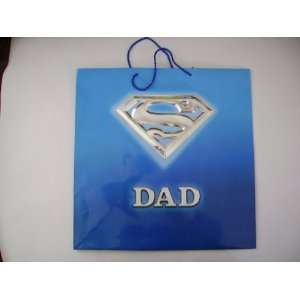 GIFT BAGS BIRTHDAY 15 IN. L (SUPER DAD SYMBOL)