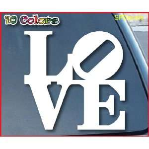 Love Park Philly Car Window Vinyl Decal Sticker 6 Wide (Color White)