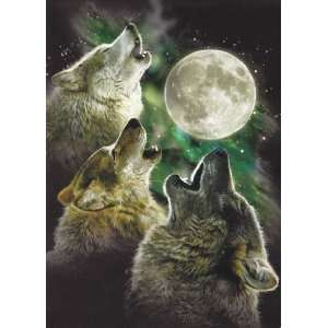 Howling Three Wolf Moon 6 Pack of Greeting Cards