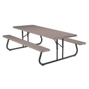 Lifetime 8 Ft. Folding Picnic Table Patio, Lawn & Garden