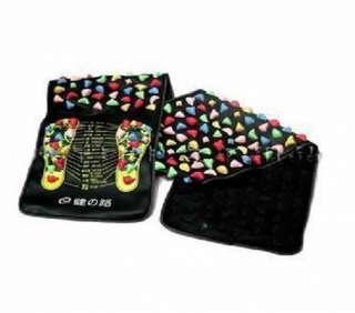 Package 1xReflexology Foot Massage Walk Stone Leg Massager Mat