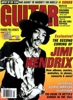 Guitar World Magazine March, 1997.Jimi Hendrix