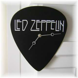 Led Zeppelin (Jimmy Page/Robert Plant Band) Giant Guitar Pick Clock