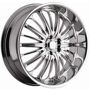 Akuza Belle 22x9.5 Chrome Wheel / Rim 6x135 with a 35mm Offset and a