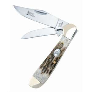 Pocket Knife LOCKING COPPERHEAD Deer Stag SW 104DS
