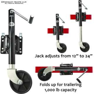 1000 LB SWING AWAY TRAILER JACK & WHEEL BOAT RV UTILITY
