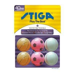 Star Sport Table Ping Pong Tennis Balls (6 Pack)