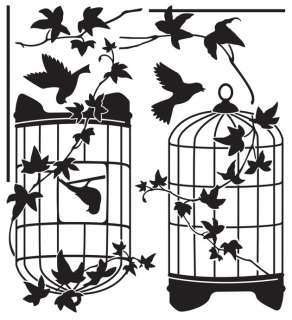 Birds Cage Wall Decor Sticker Removable Graphic Decal